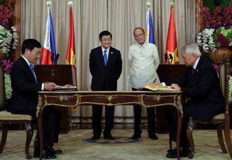 Việt Nam - Philippines trở thành đối tác chiến lược.