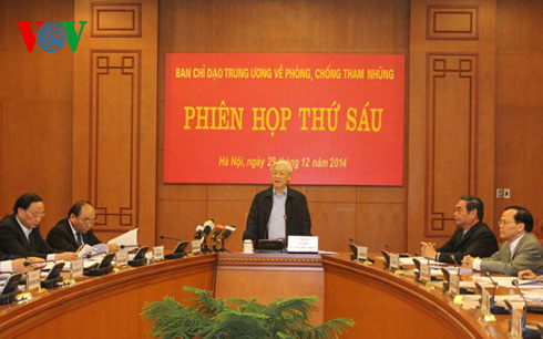Thời sự đêm ngày 29/12/2014: Tổng Bí thư Nguyễn Phú Trọng khẳng định: Cuộc đấu tranh phòng, chống tham nhũng vẫn còn nhiều phức tạp, khó khăn, phải làm lâu dài, kiên trì, kiên quyết.