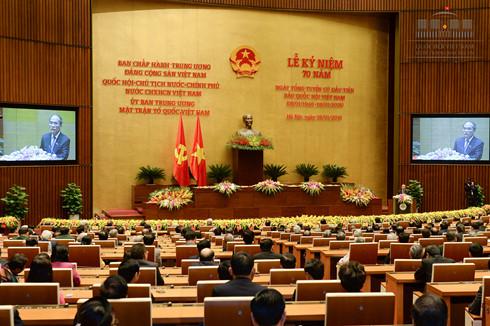 Kỷ niệm trọng thể 70 năm Ngày Tổng tuyển cử bầu ra Quốc hội đầu tiên của nước Việt Nam (Thời sự trưa 06/01/2016)