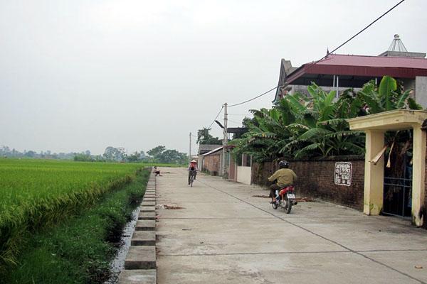 Đòn bẩy xây dựng nông thôn mới ở xã Trung Hà, huyện Yên Lạc, tỉnh Vĩnh Phúc (11/1/2016)