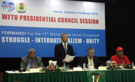 Hội đồng Chủ tịch Liên hiệp Công đoàn Thế giới ủng hộ Việt Nam bảo vệ chủ quyền tại biển Đông. (Thời sự chiều 06/3/2016)