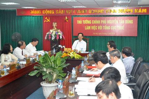 Thời sự trưa ngày 09/7/2014:Thủ tướng Nguyễn Tấn Dũng làm việc với lãnh đạo Tổng cục Thuế