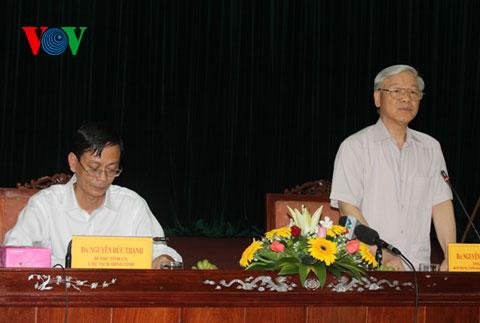 Thời sự chiều ngày 05/7/2014: Tổng bí thư Nguyễn Phú Trọng làm việc với tỉnh Ninh Thuận về tình hình phát triển kinh tế xã hội của địa phương