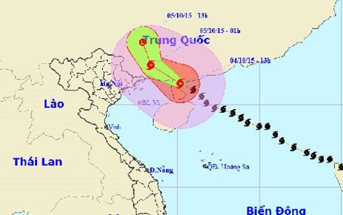 Từ đêm nay, hoàn lưu bão số 4 sẽ gây mưa to từ 100 – 200mm cho các tỉnh Quảng Ninh, Lạng Sơn và Cao Bằng.