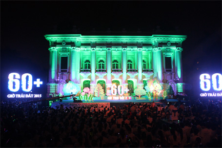 """Thời sự sáng ngày 23/3/2015: Thực hiện tắt điện 1 giờ trong chiến dịch """"Giờ Trái Đất 2015"""", Hà Nội tiết kiệm được 241.000 Kwh điện, tương đương 400 triệu đồng."""