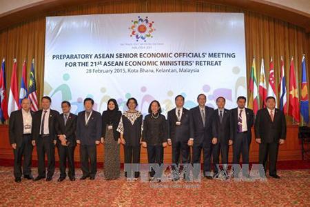 Ngôi nhà ASEAN ngày 04/3/2015: Hội nghị hẹp Bộ trưởng Kinh tế ASEAN lần thứ 21 tập trung vào việc thành lập Cộng đồng Kinh tế ASEAN.