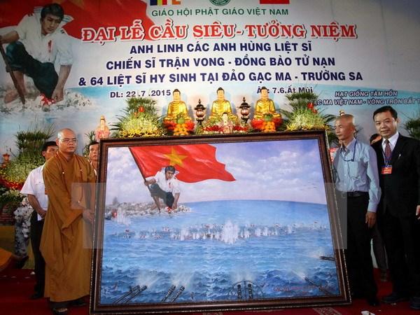 Thời sự đêm ngày 22/7/2015: Trung ương Giáo hội Phật giáo Việt Nam tổ chức Đại lễ tưởng niệm - cầu siêu anh linh các Anh hùng Liệt sĩ và 64 liệt sĩ Gạc Ma tại chùa Vĩnh Nghiêm, thành phố Hồ Chí Minh