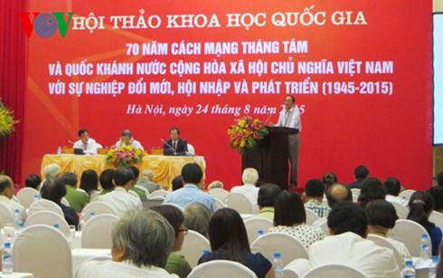 Hội thảo khoa học 70 năm Cách mạng tháng Tám và Quốc khánh 2/9 với sự nghiệp đổi mới, hội nhập và phát triển