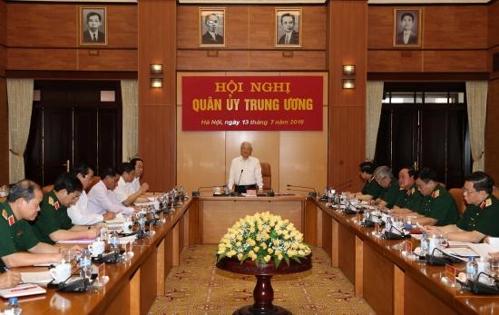 Tổng Bí thư Nguyễn Phú Trọng chủ trì Hội nghị Quân ủy Trung ương về việc thực hiện Chương trình hành động thực hiện Nghị quyết Đại hội 12 của Đảng. (Thời sự chiều 13/7/2016)