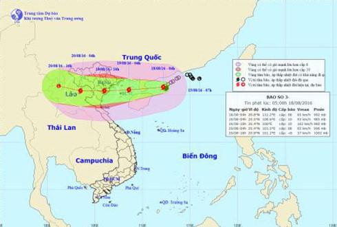 Từ chiều tối nay bão số 3 sẽ ảnh hưởng trực tiếp đến tỉnh Quảng Ninh, các tỉnh từ Quảng Trị trở ra bị cấm biển hoàn toàn từ ngày hôm nay (Thời sự trưa 18/8/2016)