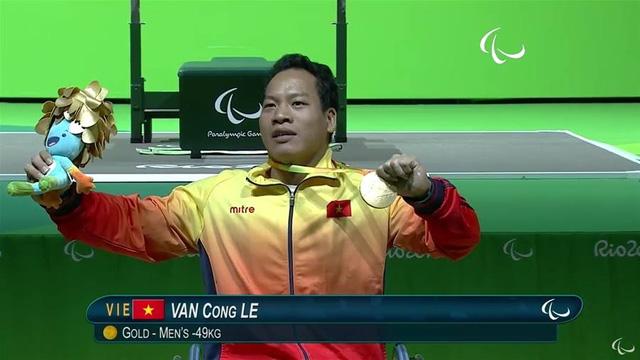 Đô cử Lê Văn Công xuất sắc giành thành tích vàng đầu tiên của Thể thao người khuyết tật Việt Nam tại đấu trường Paralympic (11/9/2016)