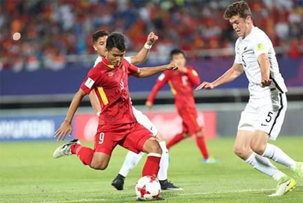 U20 Việt Nam đi vào lịch sử bóng đá Đông Nam Á sau khi đạt điểm số đầu tiên trong trận đấu với New Zealand (28/5/2017)