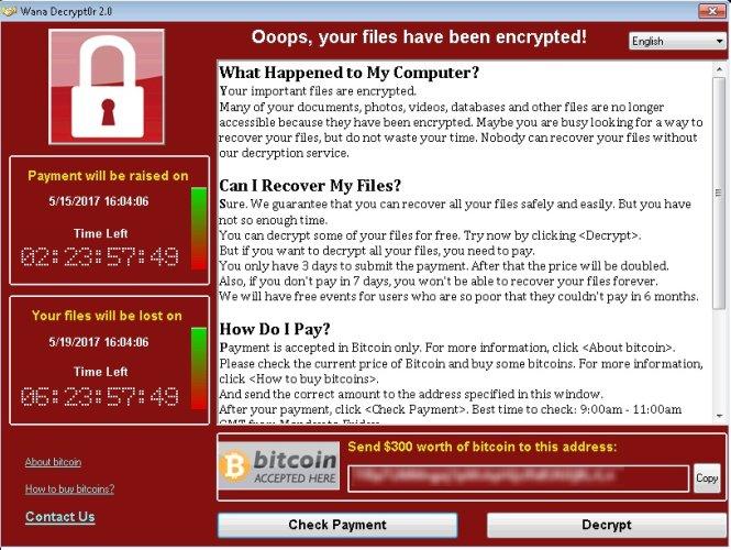 An ninh mạng nhìn từ sự việc mã độc Wanna Cry tống tiền (17/5/2017)
