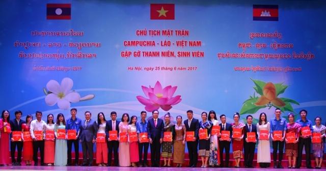 Chủ tịch mặt trận 3 nước Campuchia - Lào - Việt Nam gặp gỡ thanh niên 3 nước (26/6/2017)