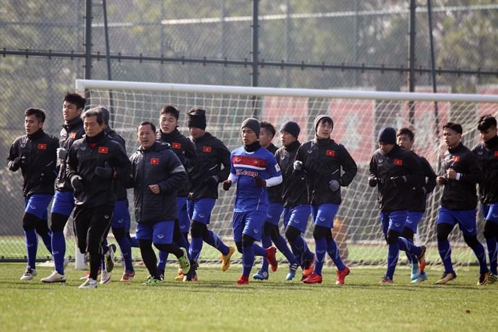 Đội tuyển U23 Việt Nam chuẩn bị cho Vòng chung kết U23 châu Á 2018 (7/1/2018)