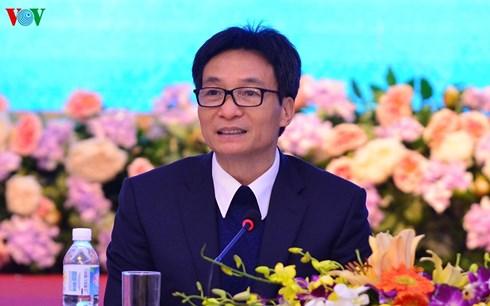 Phó Thủ tướng Vũ Đức Đam chủ trì buổi Đối thoại Phát triển bóng đá Việt Nam (14/1/2018)