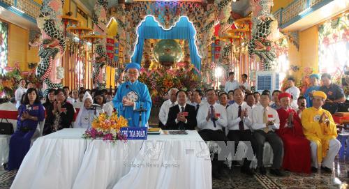 Hội thánh Cao đài: Phục vụ công ích xã hội, giúp đời, giúp đạo  (18/01/2018)