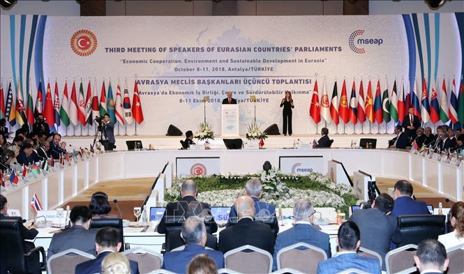 Hội nghị Chủ tịch Quốc hội các nước Á-Âu lần thứ ba bế mạc và chính thức thông qua Tuyên bố chung - Tuyên bố Antalya (Thời sự sáng 10/10/2018)