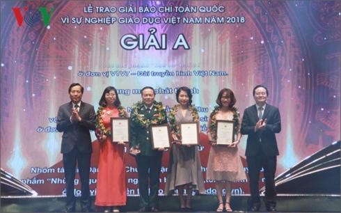 Làm quen với phóng viên Nguyễn Trần Anh Thu, Ban Văn hóa – Xã hội VOV2 đạt Giải A giải báo chí toàn quốc vì sự nghiệp Giáo dục Việt Nam (20/11/2018)