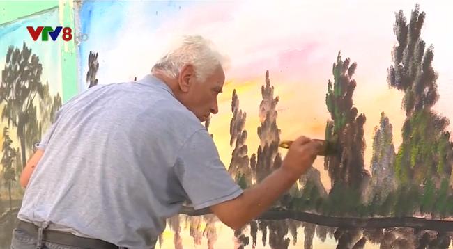 Họa sĩ 83 tuổi làm đẹp những bức tường ở trại tị nạn phía Nam Liban (10/12/2018)