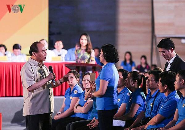 Thủ tướng Chính phủ đối thoại với công nhân và người lao động (19/5/2018)