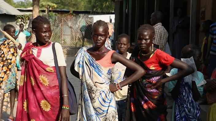 Nhân viên cứu trợ nhân đạo ở khu vực đang có nội chiến Nam Sudan (4/6/2018)