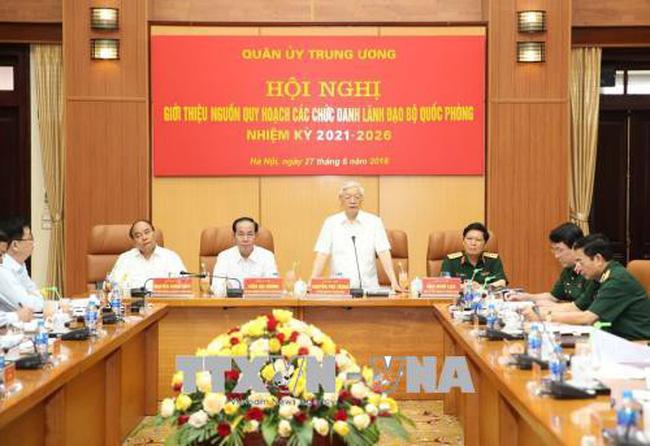 Tổng Bí thư Nguyễn Phú Trọng, Bí thư Quân ủy Trung ương chủ trì Hội nghị quy hoạch lãnh đạo Bộ Quốc phòng (Thời sự đêm 27/6/2018)