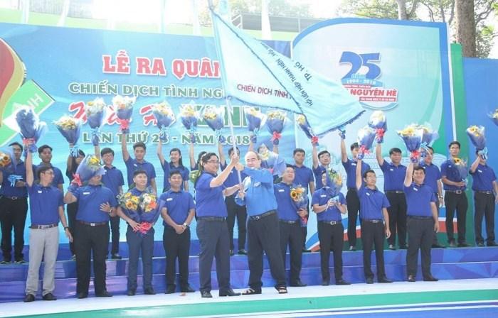 Ra quân Chiến dịch Mùa hè xanh lần thứ 25 của Thành đoàn Thành phố Hồ Chí Minh với sự tham gia của 60 nghìn tình nguyện viên (Thời sự trưa 15/7/2018)