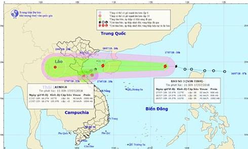 Những thông tin mới nhất về bão số 3 và công tác chuẩn bị ứng phó của các địa phương vùng ảnh hưởng (Thời sự chiều 17/7/2018)