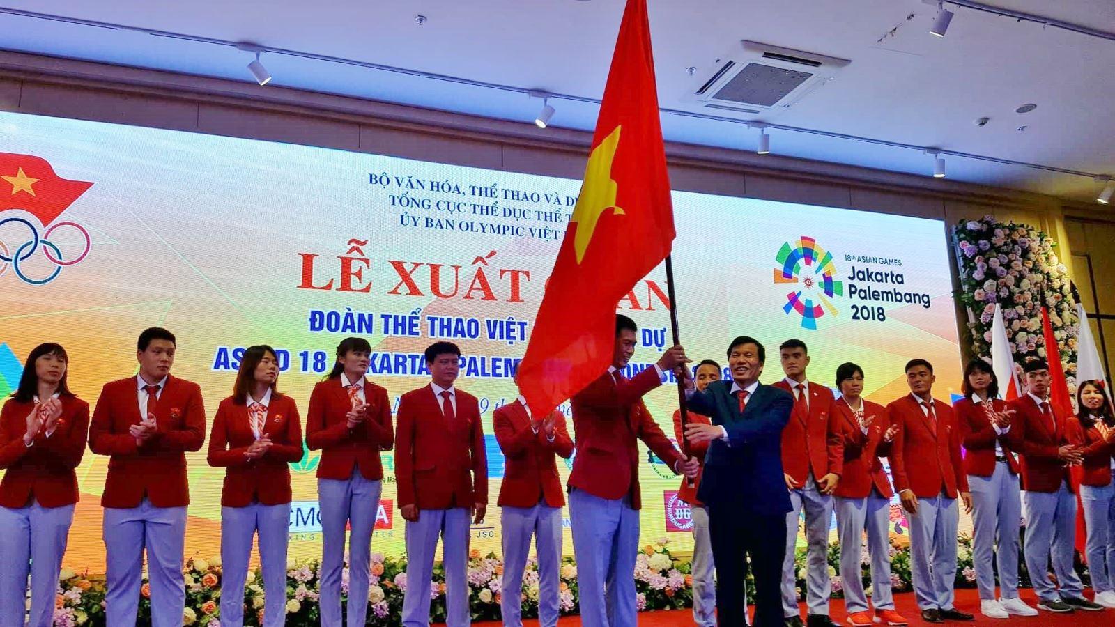 Lễ xuất quân Đoàn thể thao Việt Nam tham dự ASIAD 2018 (Thời sự đêm 9/8/2018)