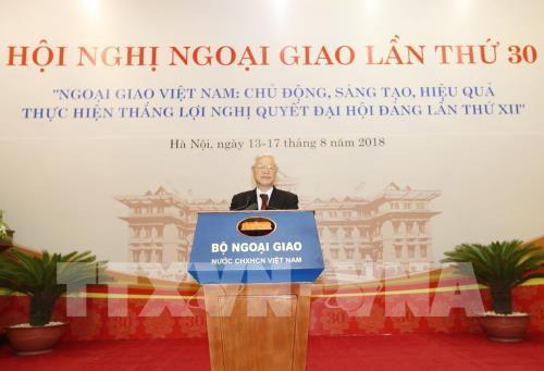 Tổng Bí thư Nguyễn Phú Trọng dự và phát biểu chỉ đạo Hội nghị Ngoại giao lần thứ 30 (Thời sự trưa 13/8/2018)