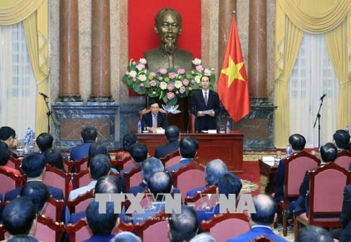 Chủ tịch nước Trần Đại Quang: Ngành ngoại giao cần tiếp tục đổi mới tư duy trong bối cảnh mới của tình hình thế giới và cuộc cách mạng công nghiệp lần thứ tư (Thời sự đêm 14/8/2018)
