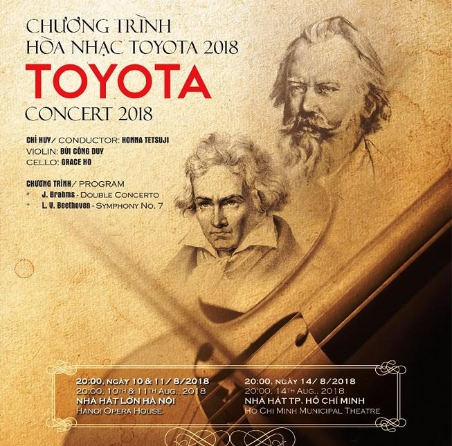 Thông tin về chương trình Hòa nhạc Toyota 2018 tại Hà Nội và Thành phố Hồ Chí Minh (14/8/2018)