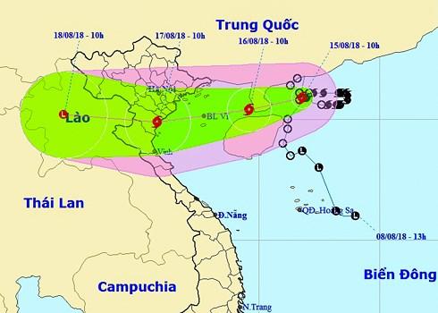 Bão số 4 sẽ tiến vào đất liền các tỉnh từ Quảng Ninh đến Nghệ An, cảnh báo ngập lụt ở nhiều nơi  (Thời sự trưa 15/8/2018)