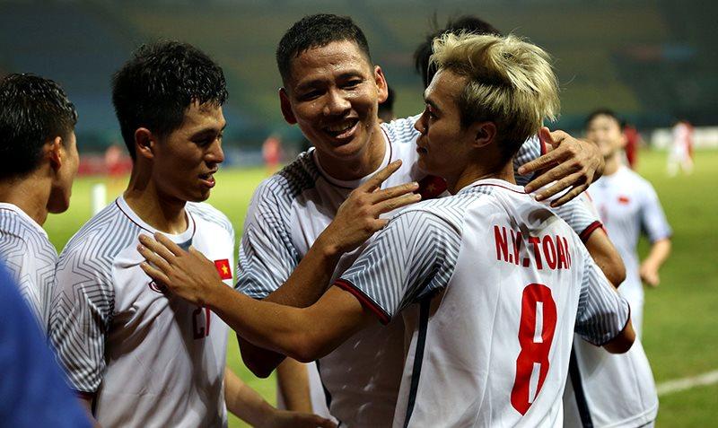 Niềm vui vỡ òa khi đội tuyển Olympic Việt Nam chiến thắng đội tuyển Syria tại ASIAD 2018 (27/8/2018)