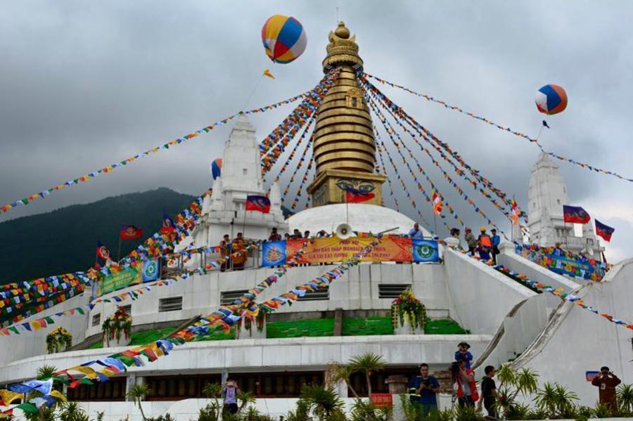 Đại Bảo tháp Mandala Tây Thiên: Điểm du lịch tâm linh thú vị (21/9/2018)