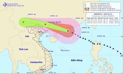 Dù không đổ bộ vào nước ta, nhưng Ban chỉ đạo Trung ương về Phòng chống thiên tai vẫn yêu cầu các tỉnh, thành phố ven biển từ Quảng Ninh đến Hà Tĩnh không được chủ quan, mà tiếp tục thực hiện các phương án đối phó bão và hoàn lưu sau bão (Thời sự đêm 16/9/2018)