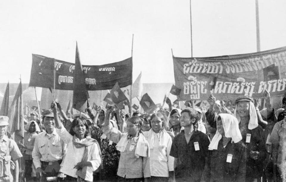 Việt Nam gửi Điện mừng Campuchia nhân 40 năm kỷ niệm Ngày chiến thắng chiến tranh bảo vệ biên giới Tây Nam của Tổ quốc và cùng quân dân Campuchia chiến thắng chế độ diệt chủng (Thời sự sáng 7/1/2019)