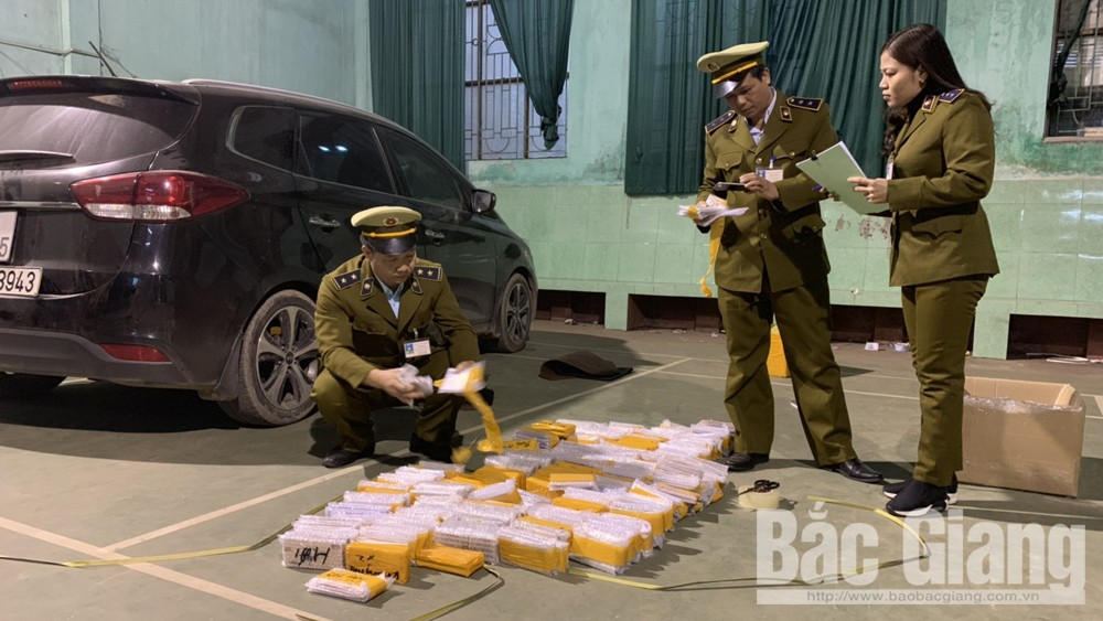 Bắc Giang bắt giữ 555 chiếc điện thoại không hóa đơn, chứng từ. (25/1/2019)