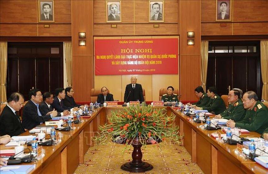 Tổng Bí thư, Chủ tịch nước Nguyễn Phú Trọng chủ trì Hội nghị Quân ủy Trung ương (Thời sự trưa 7/1/2019)