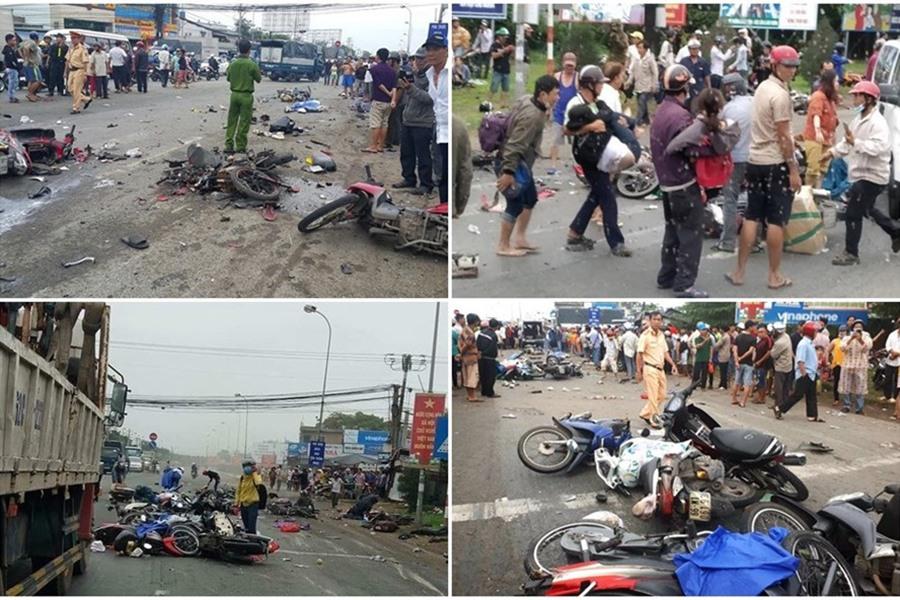Liên tiếp xảy ra nhiều vụ tai nạn giao thông nghiêm trọng ngay trong những ngày đầu năm. (8/1/2019)