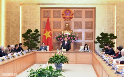 Thủ tướng Nguyễn Xuân Phúc gặp mặt lãnh đạo Hội Giáo dục chăm sóc sức khỏe cộng đồng Việt Nam (Thời sự đêm 4/1/2019)