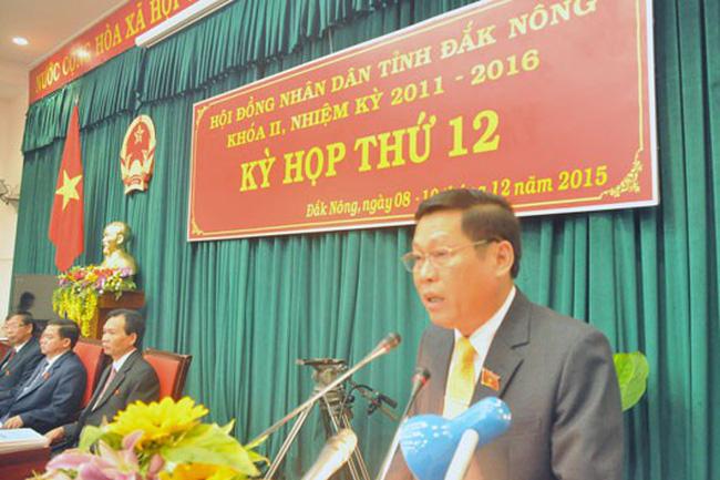 Kỷ luật khiển trách Phó Bí thư Tỉnh ủy, Chủ tịch Ủy ban nhân dân tỉnh Đắk Nông