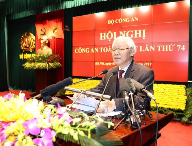 Tổng Bí thư, Chủ tịch nước Nguyễn Phú Trọng dự Hội nghị công an toàn quốc (Thời sự trưa 3/1/2019)