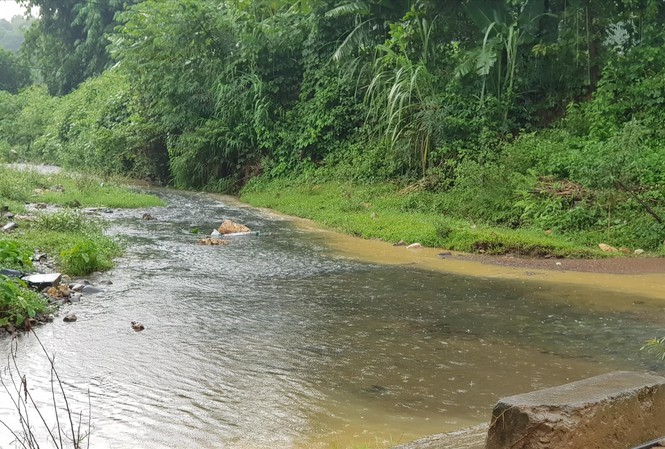 """""""Thủ phạm"""" khiến nước sinh hoạt bốc mùi ở Hà Nội là do hành vi đổ trộm dầu thải vào khe núi tại huyện Kỳ Sơn, tỉnh Hòa Bình (14/10/2019)"""