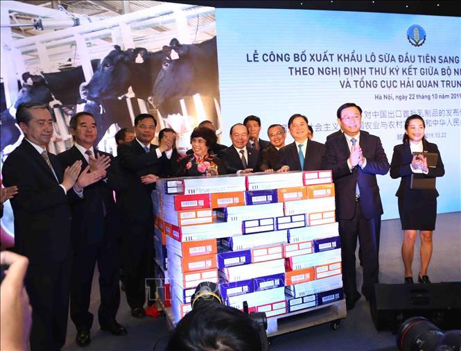THỜI SỰ 12H TRƯA 22/10/2019: Bộ Nông nghiệp và phát triển nông thôn công bố xuất khẩu lô sữa đầu tiên của Việt Nam sang thị trường Trung Quốc.
