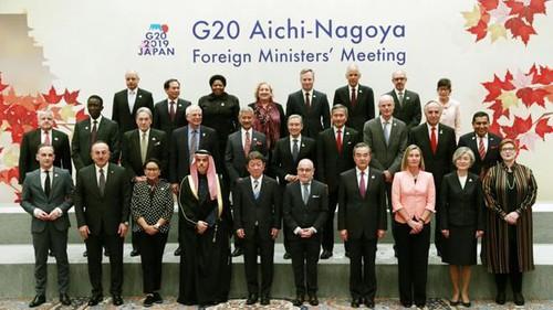 Hội nghị Ngoại trưởng nhóm G20 diễn ra tại Nagoya, tỉnh Aichi, Nhật Bản (24/11/2019)