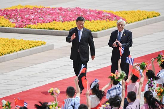 """Chủ tịch Trung Quốc thăm Hy Lạp: """"Mở rộng đường"""" cho sáng kiến Vành đai, Con đường (12/11/2019)"""