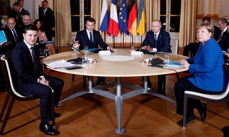 """Hội nghị Thượng đỉnh """"Bộ tứ Normandy"""": Giải pháp cho cuộc xung đột ở miền đông Ucraina (10/12/2019)"""