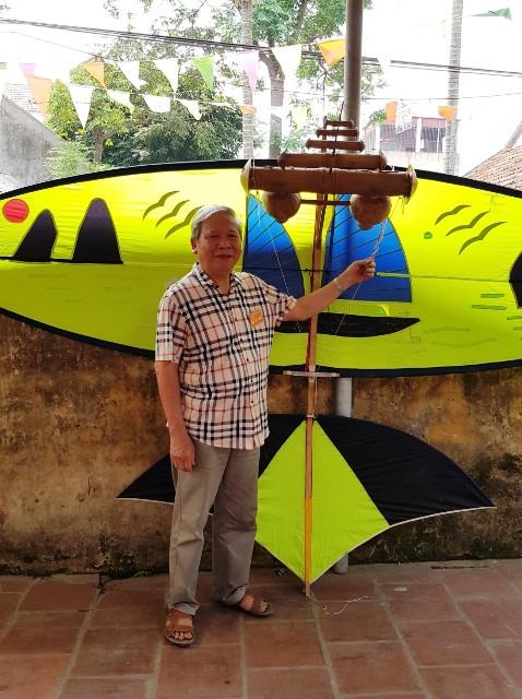 Nghệ nhân Nguyễn Hữu Kiêm - người tâm huyết đưa diều sáo làng Bá Dương Nội bay xa (3/12/2019)